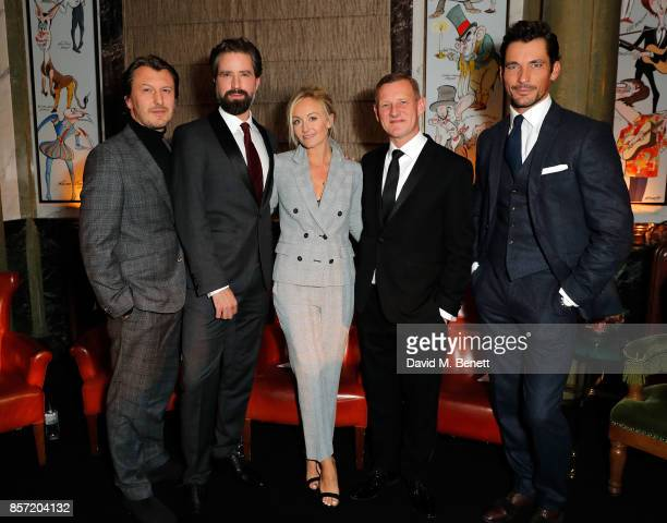 Terry Betts Jack Guinness Sarah Ann Murray Steve Rowe and David Gandy attend the MS Tailoring Talk on October 3 2017 in London England