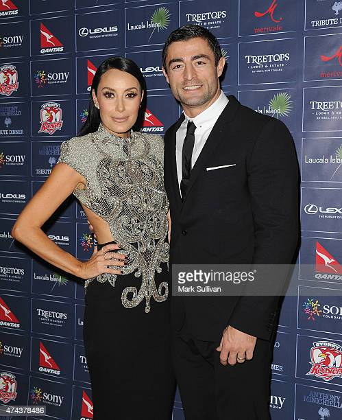 Terry Biviano and Anthony Minichello at a tribute dinner hosted by Anthony Minichiello for the Sony Foundation at The Ivy on May 22 2015 in Sydney...