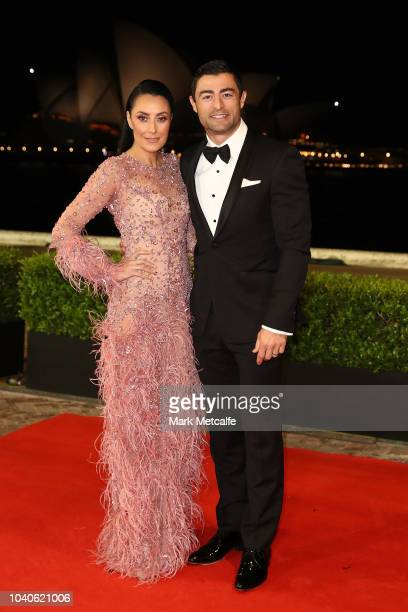 Terry Biviano and Anthony Minichiello arrive at the 2018 Dally M Awards at Overseas Passenger Terminal on September 26 2018 in Sydney Australia