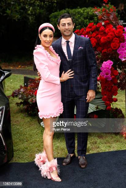 Terry Biviano and Anthony Minichiello attend the 2020 Melbourne Cup Carnival Sydney Launch at Vaucluse House on October 27 2020 in Sydney Australia