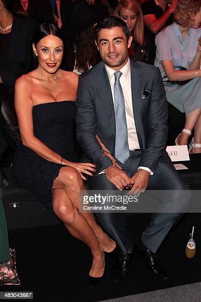 Terry Biviano and Anthony Minichiello attend the Carla Zampatti show during MercedesBenz Fashion Week Australia 2014 at Carriageworks on April 6 2014...