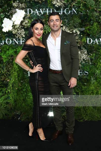 Terry Biviano and Anthony Minichiello attend the David Jones Spring Summer 18 Collections Launch at Fox Studios on August 8 2018 in Sydney Australia