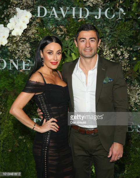 Terry Biviano and Anthony Minichiello attends the David Jones Spring Summer 18 Collections Launch at Fox Studios on August 8 2018 in Sydney Australia