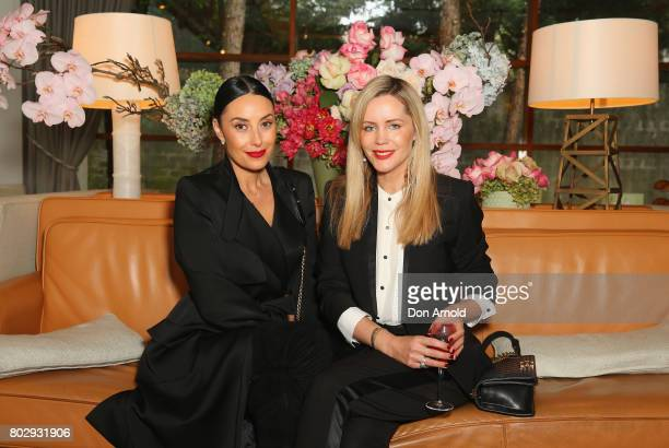 Terry Biviano and Sophie Faulkiner attend Kathryn Eisman's High Heel Jungle Launch at Hotel Centennial on June 29 2017 in Sydney Australia