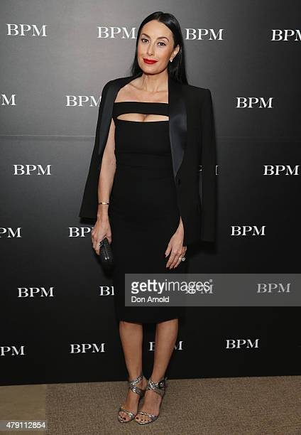Terry Biviano arrives at a cocktail event to launch the 'Shadow Play' development at the Park Hyatt on July 1 2015 in Sydney Australia