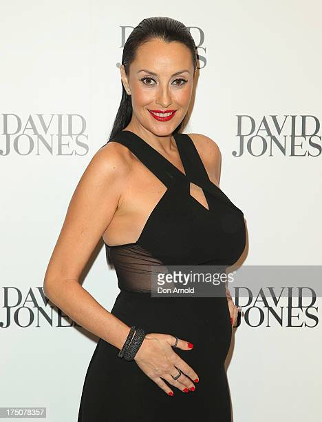 Terri Biviano arrives at the David Jones Spring/Summer 2013 Collection Launch at David Jones Elizabeth Street on July 31 2013 in Sydney Australia
