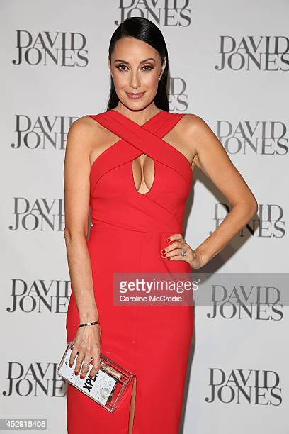 Terry Biviano arrives at the David Jones Spring/Summer 2014 Collection Launch at David Jones Elizabeth Street Store on July 30 2014 in Sydney...