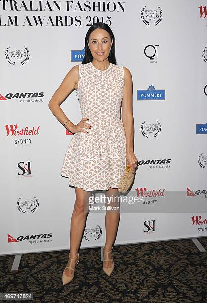 Terry Biviano attends the Australian Fashion Film Awards at the QT Private Screening Hall on April 15 2015 in Sydney Australia