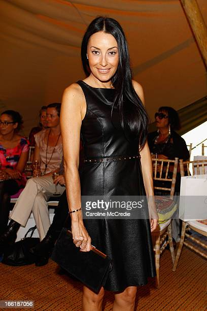 Terry Biviano attends the Camilla show during MercedesBenz Fashion Week Australia Spring/Summer 2013/14 at Centennial Park on April 10 2013 in Sydney...