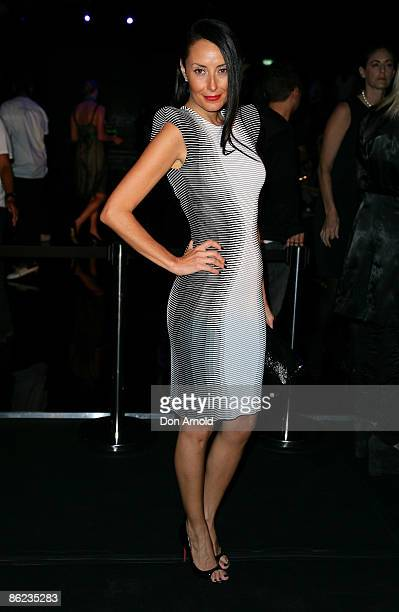Terry Biviano poses prior to the Wayne Cooper show at the Overseas Passenger Terminal, Circular Quay on day one of Rosemount Australian Fashion Week...
