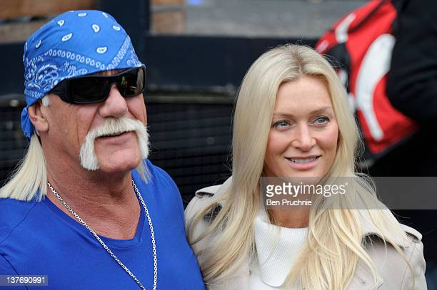 Terry Bollea AKA Hulk Hogan and Jennifer Bollea sighted in london on January 25 2012 in London England