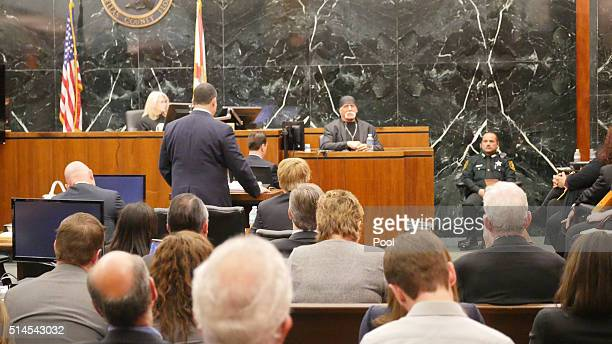 Terry Bollea aka Hulk Hogan listens while testifying in his case against the website Gawker at the Pinellas County Courthouse March 7 2016 in St...