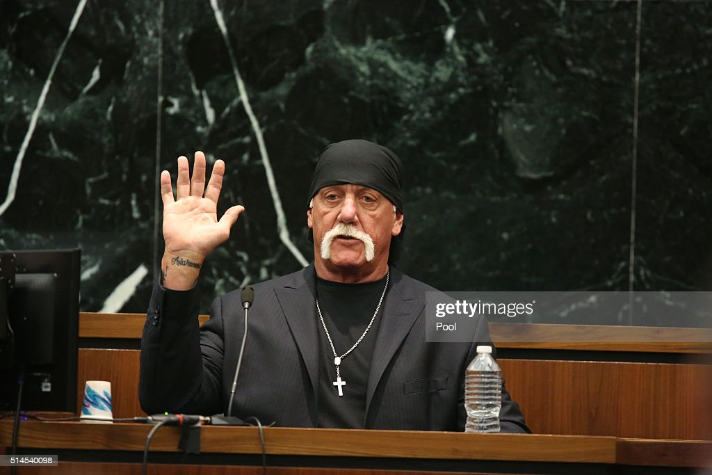 Terry Bollea, aka Hulk Hogan, Testifies In Gawker Media Lawsuit : News Photo