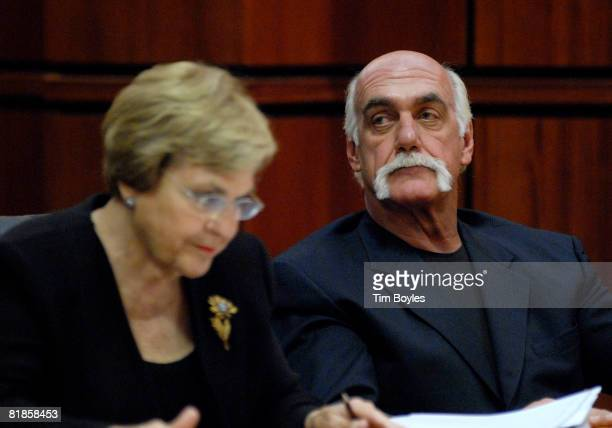 Terry Bollea known as Hulk Hogan listens as his attorney Ann Kerr argues during the former wrestler's divorce hearings from his wife Linda Bollea at...