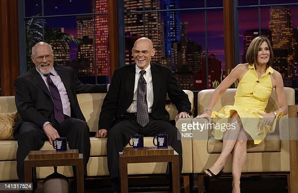 LENO Terry Bradshaw James Carville Mary Matalin Air Date 3/18/08 Episode 3516 Pictured Actors Terry Bradshaw James Carville and Mary Matalin during...