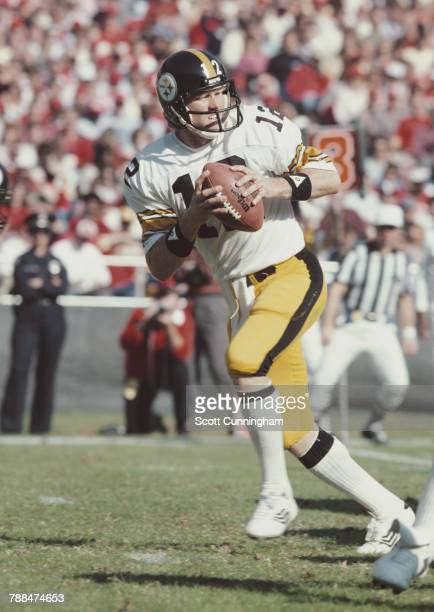 Terry Bradshaw Quarterback for the Pittsburgh Steelers during the National Football Conference West game against the Atlanta Falcons on 15 November...