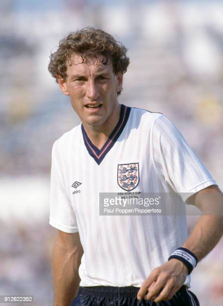 Terry Butcher in action for England during the FIFA World Cup match between England and Morocco at the Estadio Tecnologico in Monterrey 6th June 1986...