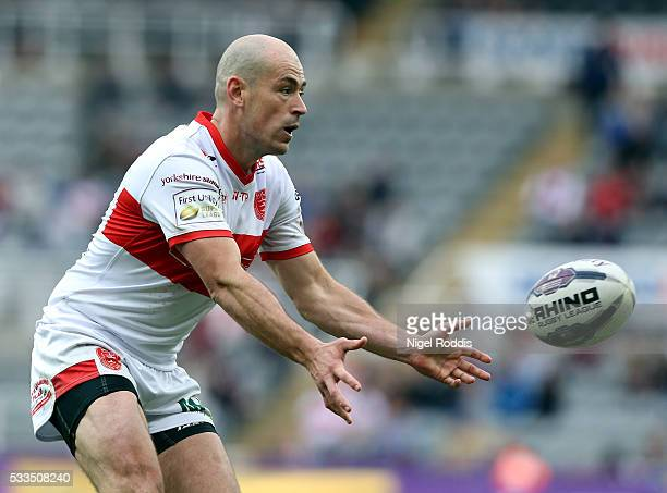 Terry Campese of Hull KR during the First Utility Super League match between Hull FC and Hull KR at St James' Park on May 22 2016 in Newcastle upon...