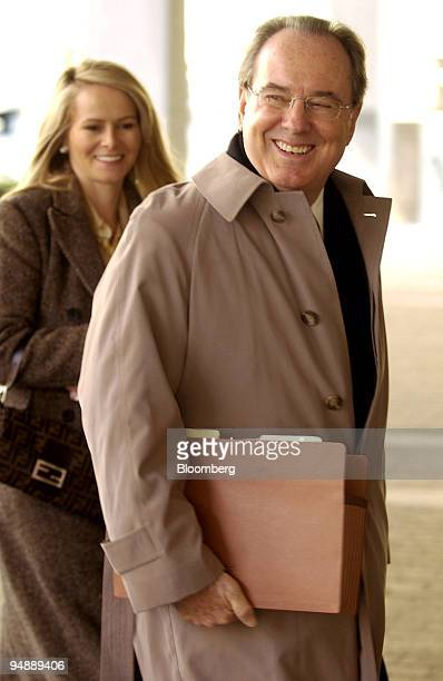Terry Christensen lead attorney for billionaire investor Kirk Kerkorian right along with his wife Tricia left arrive at the federal courthouse in...