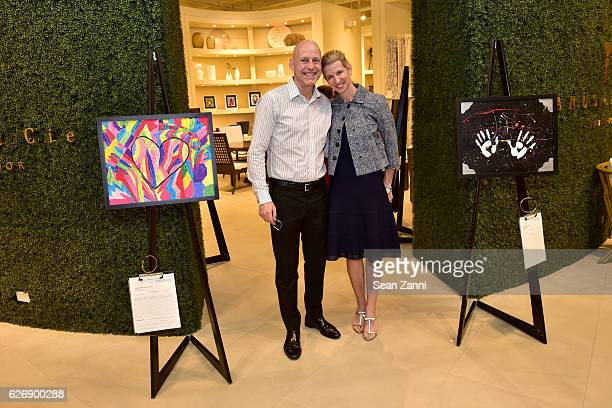 Terry Clayton and Alexis Contant attend the Art Basel Charity Event Hosted by JANUS et Cie CEO Janice Feldman and Architectural Digest Publisher...