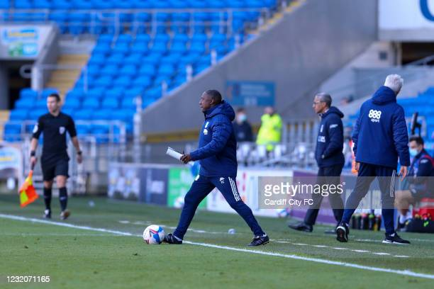 Terry Connor of Cardiff City FC during the Sky Bet Championship match between Cardiff City and Nottingham Forest at Cardiff City Stadium on April 2,...