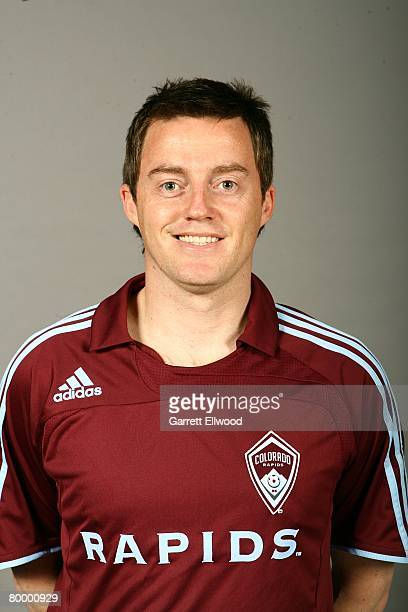 Terry Cooke of the Colorado Rapids poses for a photo on February 7 2008 at the Pepsi Center in Denver Colorado