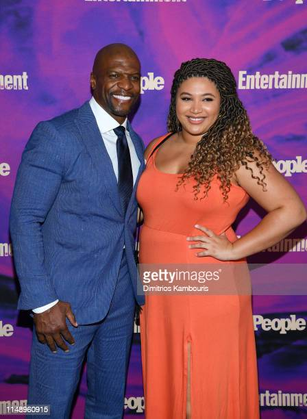Terry Crews and Azriel Crews attend the Entertainment Weekly PEOPLE New York Upfronts Party on May 13 2019 in New York City