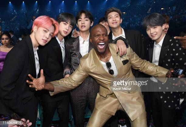 Terry Crews and BTS attend the 2019 Billboard Music Awards at MGM Grand Garden Arena on May 1 2019 in Las Vegas Nevada