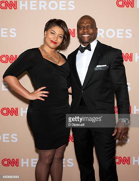 Terry Crews and daughter Azriel Crews attend the 2013 CNN Heroes at the American Museum of Natural History on November 19 2013 in New York City