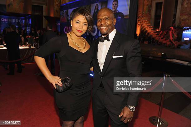 Terry Crews and his daughter Azriel Crews attend 2013 CNN Heroes An All Star Tribute at the American Museum of Natural History on November 19 2013 in...