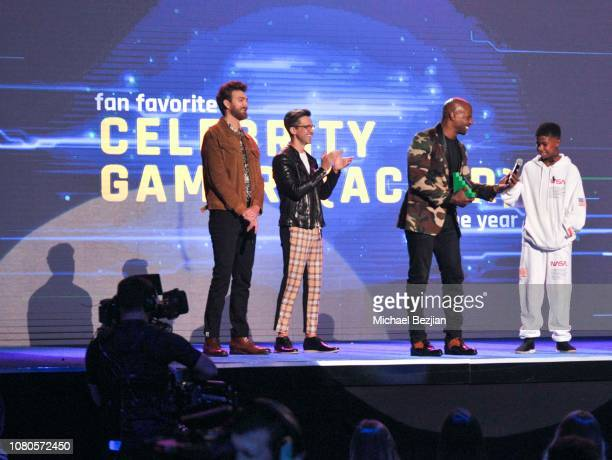 Terry Crews and Isaiah Crews receives award for Fan Favorite Celebrity Gamer at Gamers' Choice Awards 2018 at Fonda Theater on December 03 2018 in...