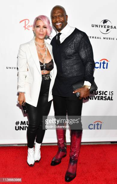 Terry Crews and Rebecca Crews attend the Universal Music Group's 2019 After Party To Celebrate The GRAMMYs at ROW DTLA on February 10 2019 in Los...