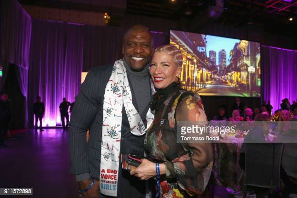 Terry Crews and REbecca KingCrews at Steven Tyler and Live Nation presents Inaugural Janie's Fund Gala GRAMMY Viewing Party at Red Studios on January...
