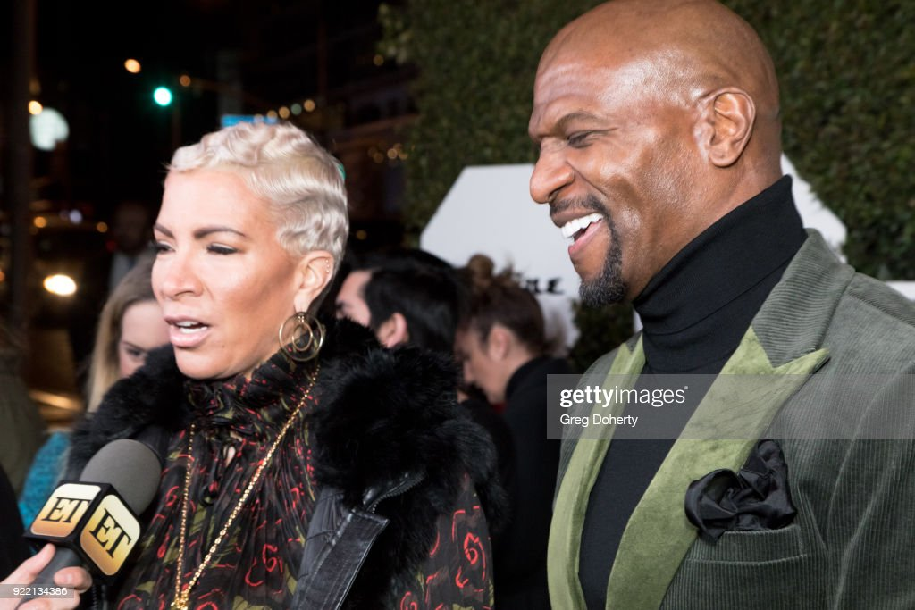 Terry Crews (L) and Rebecca King-Crews attend Esquire's Annual Maverick's Of Hollywood on February 20, 2018 in Los Angeles, California.