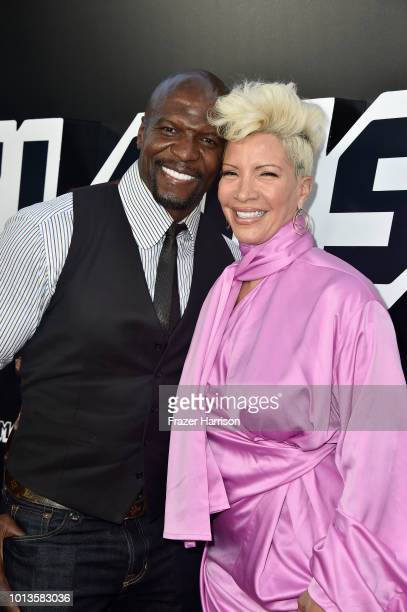 Terry Crews and Rebecca KingCrews attend the Premiere Of Focus Features' BlacKkKlansman at Samuel Goldwyn Theater on August 8 2018 in Beverly Hills...