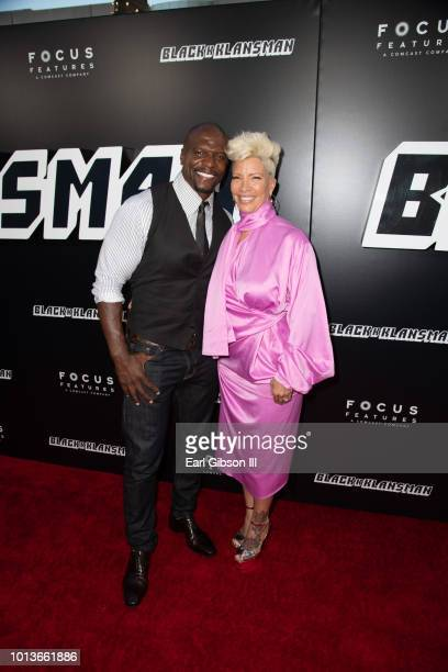 Terry Crews and Rebecca KingCrews attend the Premiere Of Focus Features BlackkKlansman at Samuel Goldwyn Theater on August 8 2018 in Beverly Hills...