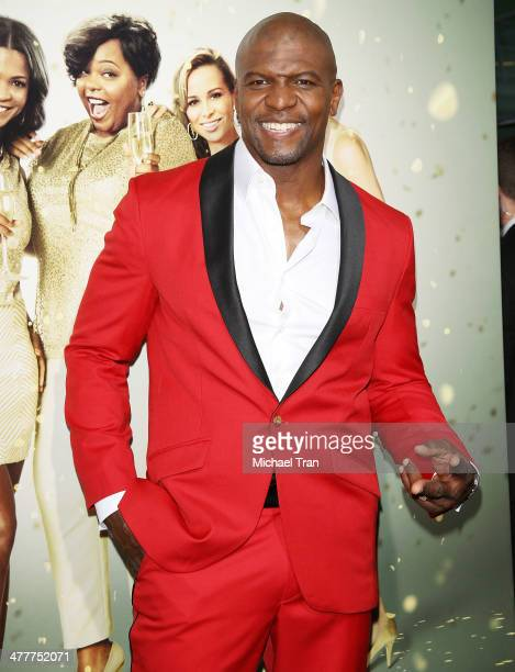 Terry Crews arrives at the Los Angeles premiere of Tyler Perry's The Single Moms Club held at ArcLight Cinemas Cinerama Dome on March 10 2014 in...