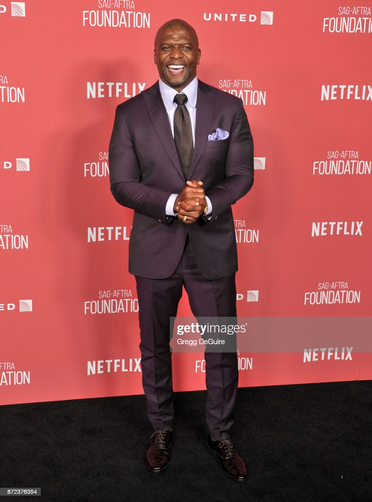 Terry Crews arrives at the SAG-AFTRA Foundation Patron of the Artists Awards 2017 on November 9, 2017 in Beverly Hills, California.