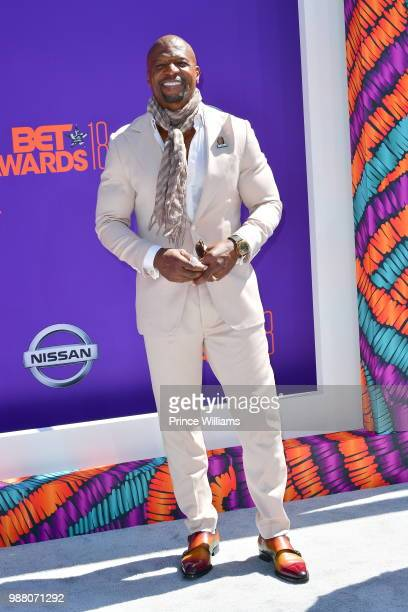 Terry Crews arrives to the 2018 BET Awards held at Microsoft Theater on June 24 2018 in Los Angeles California