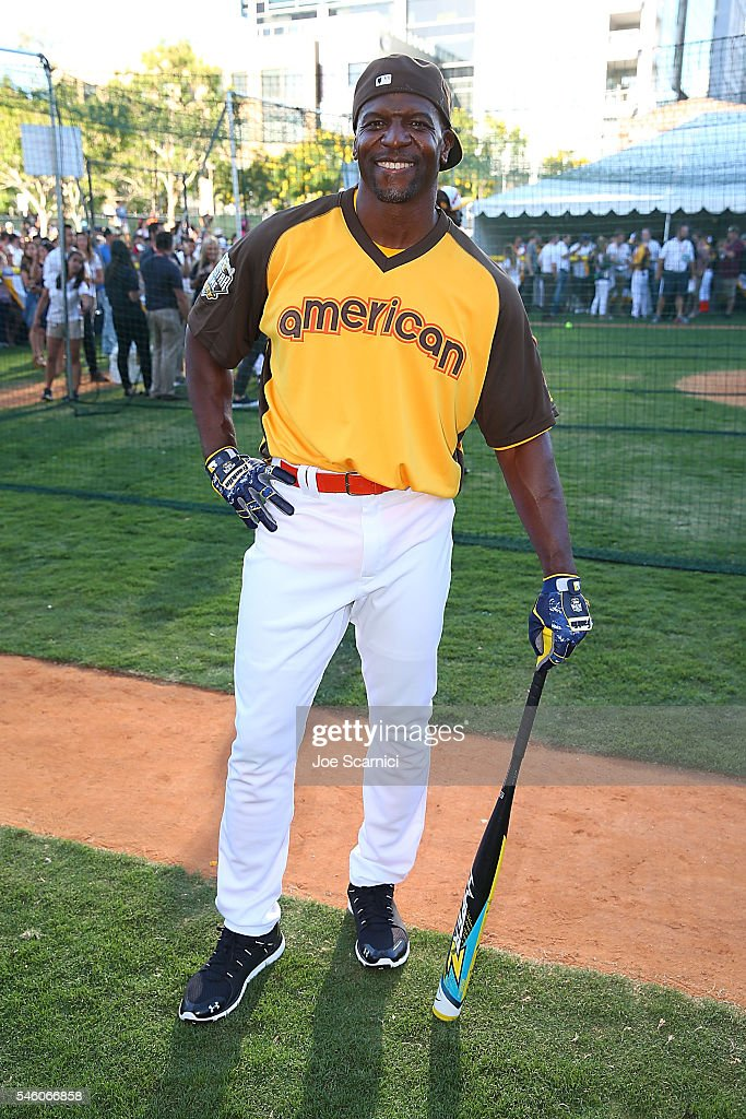 Terry Crews attends batting practice before the MLB 2016 All-Star Legends and Celebrity Softball Game at PETCO Park on July 10, 2016 in San Diego, California.