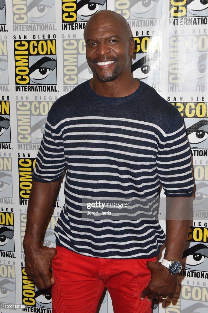 Terry Crews attends 'Brooklyn Nine-Nine' Press Line during Comic-Con International 2018 at Hilton Bayfront on July 19, 2018 in San Diego, California.