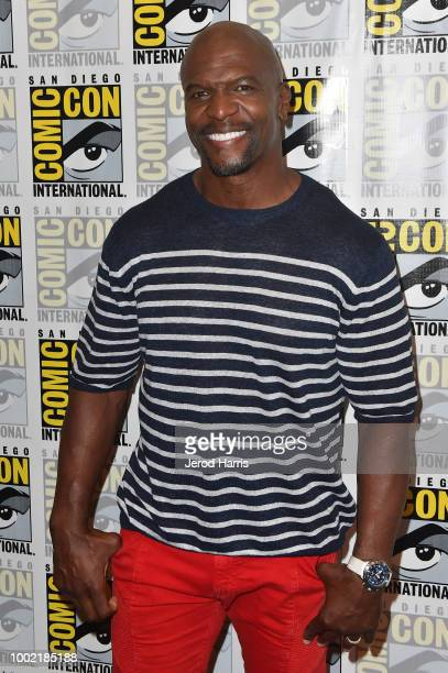 Terry Crews attends 'Brooklyn NineNine' Press Line during ComicCon International 2018 at Hilton Bayfront on July 19 2018 in San Diego California