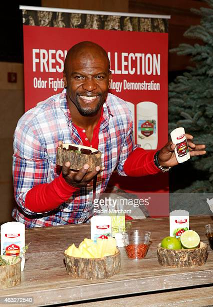 Terry Crews attends Old Spice Fresher Collection Launch at Vanderbilt Hall at Grand Central Terminal on February 12, 2015 in New York City.