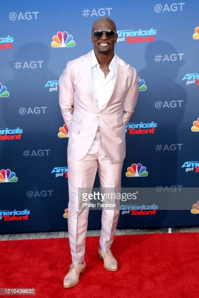 """Terry Crews attends the """"America's Got Talent"""" Season 15 Kickoff at Pasadena Civic Auditorium on March 04, 2020 in Pasadena, California."""