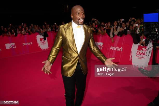 Terry Crews attends the MTV EMAs 2018 at the Bilbao Exhibition Centre on November 04 2018 in Bilbao Spain