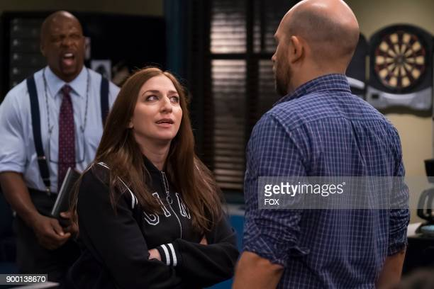 Terry Crews Chelsea Peretti and guest star Paul Scheer in the Game Night Godfather special one hour episode of BROOKLYN NINENINE airing Tuesday Dec...