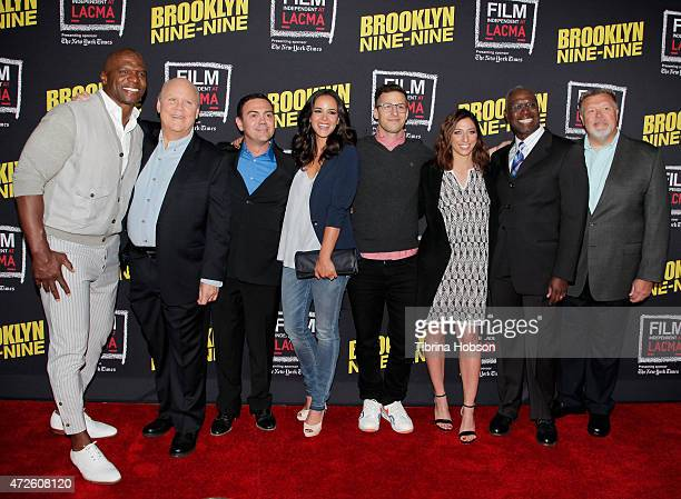 Terry Crews Dirk Blocker Joe Lo Truglio Melissa Fumero Andy Samberg Chelsea Peretti Andre Braugher and Joel McKinnon Miller attend Film Independent's...