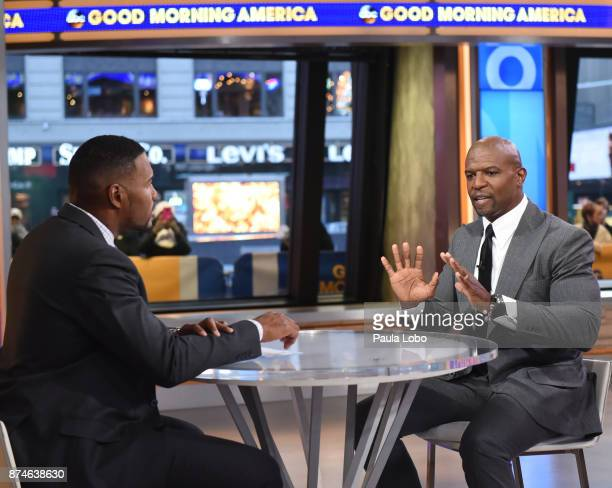 AMERICA Terry Crews is a guest on Good Morning America Wednesday November 15 airing on the Walt Disney Television via Getty Images Television Network...