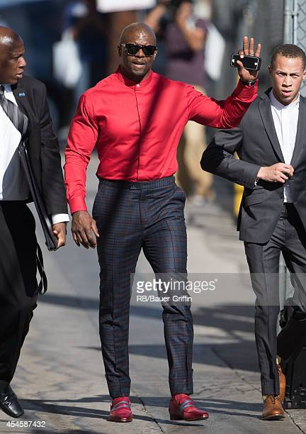Terry Crews is seen at 'Jimmy Kimmel Live' on September 03 2014 in Los Angeles California