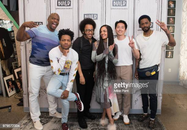 Terry Crews, Jermaine Fowler, Boots Riley, Tessa Thompson, Steven Yeun, and Lakeith Stanfield visit Build Studio to discuss 'Sorry to Bother You' at...
